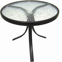 great round glass patio table Mainstays Round Outdoor Glass Top Side Table - Walmart.com