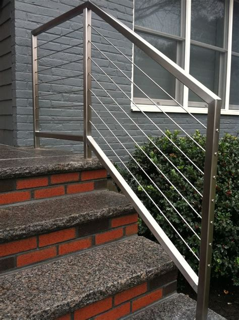 stainless steel banister best 25 stainless steel cable railing ideas on