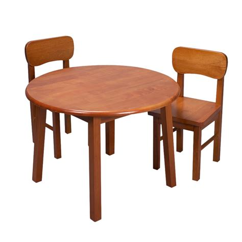 table and chair set rnd table two chair set honey