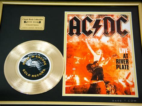 RARE-T Exclusive   'AC/DC - LIVE AT THE RIVER PLATE' GOLD 45