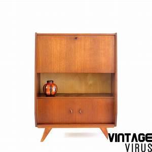 Vintage Secretaire Bureau Dressoirkast Vintage Virus