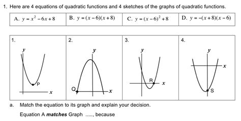 matching equations and graphs worksheet worksheets for all