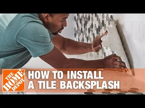 install  tile backsplash  home depot youtube