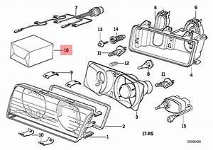 Genuine Bmw 3 Series E36 Repair Kit Headlight Oem
