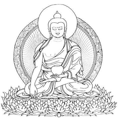 buddha stencil symbols  buddhism   printable
