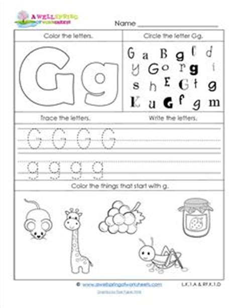 letter g worksheets worksheets by subject a wellspring of worksheets 33009