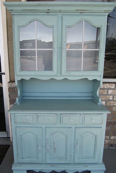 i want to refinish a hutch the duck egg blue color