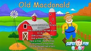 Old Macdonald Had A Farm Lyrics Super Fun Baby