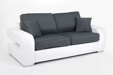 canape alban canape convertible couchage 160 cm alban wilma blanc