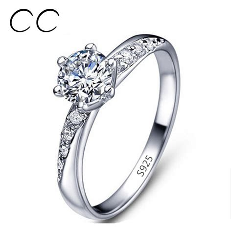 white gold plated ring wedding bands engagement ring 925 white gold plated ring wedding bands engagement ring 925