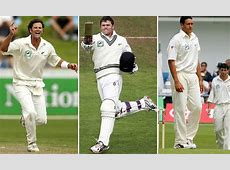 Former New Zealand cricketers Chris Cairns, Lou Vincent