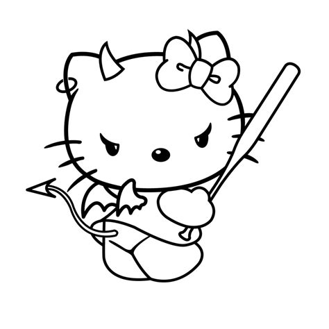 Hello Kitty Halloween Coloring Pages   Bestofcoloring.com