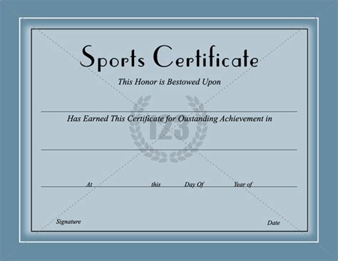 Sport Certificate Templates For Word by Sports Certificate Template Certificate Templates