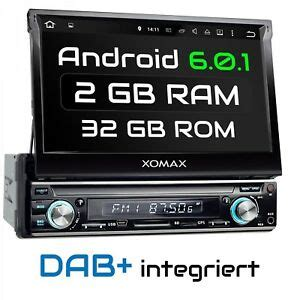 autoradio bluetooth dab dab autoradio mit android 6 0 1 navigation dab radio wifi usb sd bluetooth 1din ebay