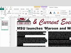 Creating Newsletters in Microsoft Publisher YouTube
