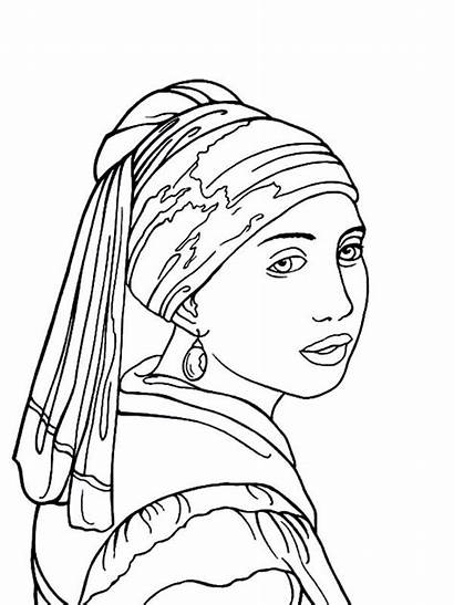 Coloring Famous Pages Paintings Pearl Earring Earrings