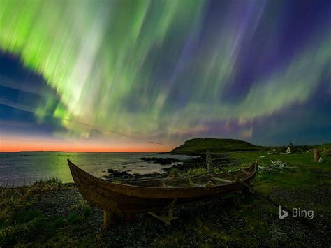 aurores boreales chaloupe canada  bing papier