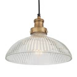 Flush Bathroom Ceiling Lights by Antique Ribbed Glass Amp Brass Retro Pendant Light 30 Cm