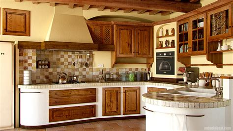 tuscan country kitchen interior render in and mental tuscan country 2972