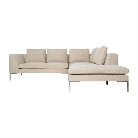 canapé 2 places méridienne montino canapé 2 places en tissu ancio nature avec