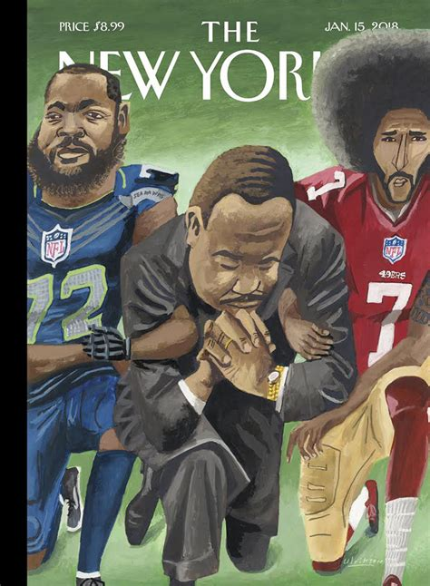 mark ulriksen depicts martin luther king jr with nfl stars for the new yorker s latest cover