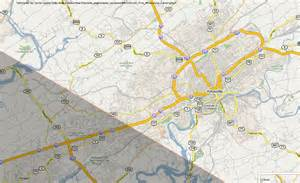 Solar Eclipse Map Knoxville TN