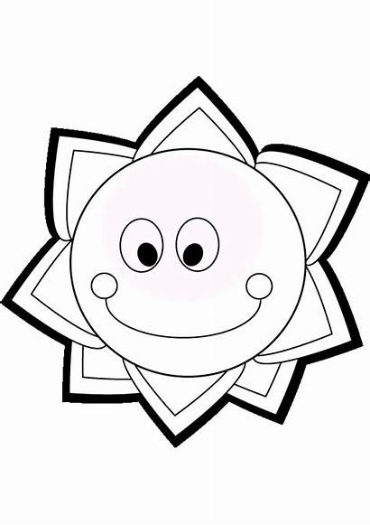 Sun Coloring Pages Printable Summer Star Smiling