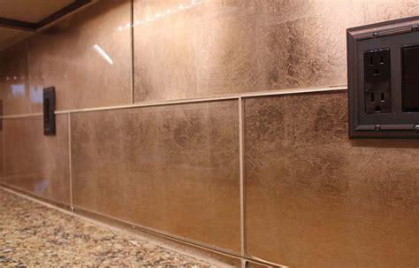 glass tile backsplash ideas kitchen dining metal frenzy in kitchen copper
