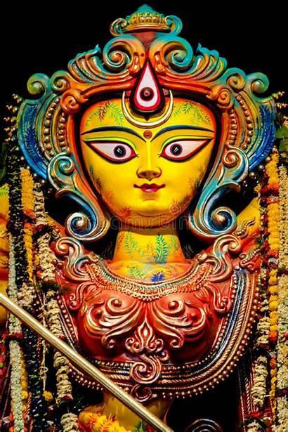 Statue Ganesha Close Durga Goddess Carving Cambodia