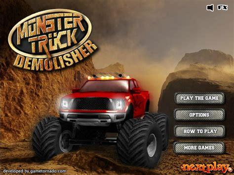 monster truck games video monster truck demolisher hacked cheats hacked online games