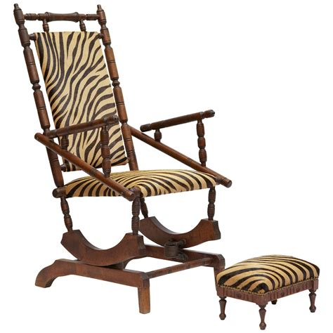 napoleon iii rocking chair with footstool at 1stdibs