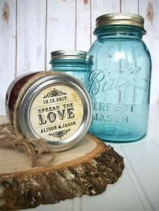 vintage spread the love custom wedding labels canning With jelly jar labels for wedding favors
