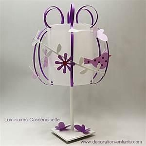 Lampe De Chevet Violet : lampe oiseau blanc violet fabrique casse noisette ~ Teatrodelosmanantiales.com Idées de Décoration