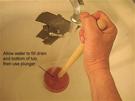 Unclog Bathtub Drain With Plunger by How To Unclog Your Bathtub Drain Home Unclog Tub Drain