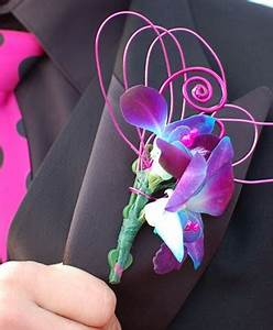 Purple Orchid Boutonniere Prom Flowers in Amherst Junction ...