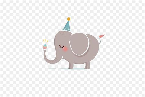 happy birthday   greeting card clip art elephant
