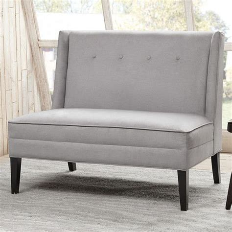 High Back Dining Settee by Found It At Joss Rathcoole Button Tufted High