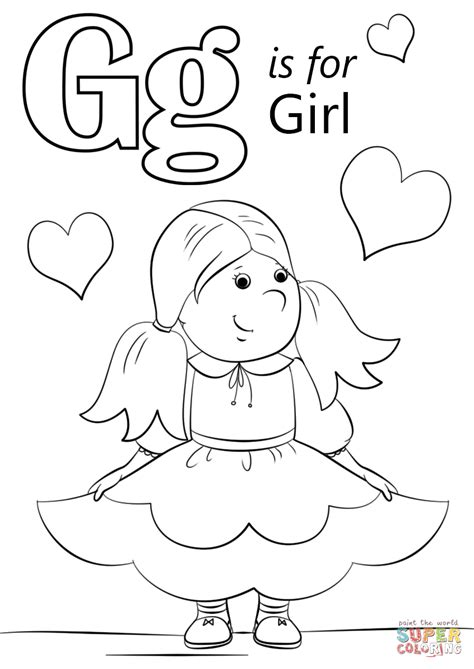Coloring Letter G by Letter G Is For Coloring Page Free Printable