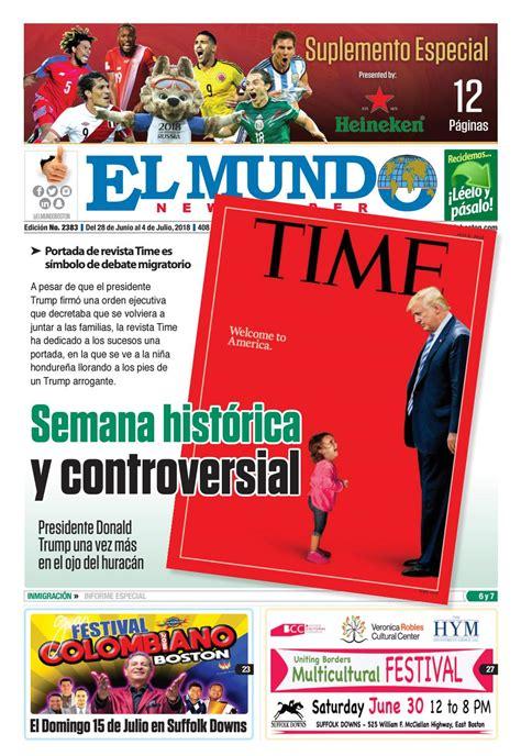 El Mundo Boston Newspaper June 28 2018 by El Mundo
