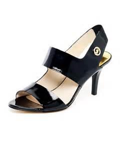 Michael Kors Black Patent Leather Sandals