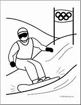 Coloring Olympics Winter Snowboarding Clip Snowboard Abcteach Sports Clipart Ski Pages Sketch Template Sport sketch template