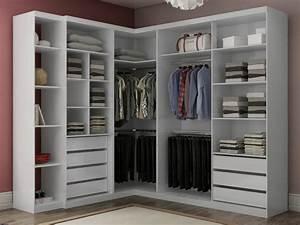 Placard D Angle : armoire dressing d 39 angle olof avec miroir 6 portes ~ Teatrodelosmanantiales.com Idées de Décoration