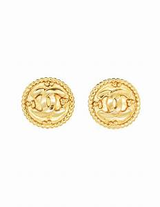 Chanel Vintage Gold CC Logo Earrings - from Amarcord ...