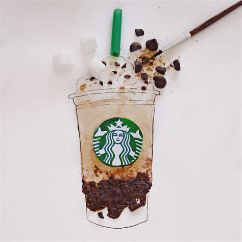Here's a quick tasty treat for those of you who like a pick me up in the morning, or any. #starbucks #frappe #foodart #food #coffee #coffeeart #chocolate #smore #marshmallow | Coffee art ...