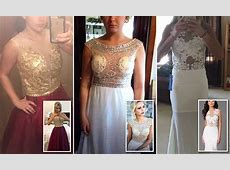 Prom dresses ordered online look horrible in real life