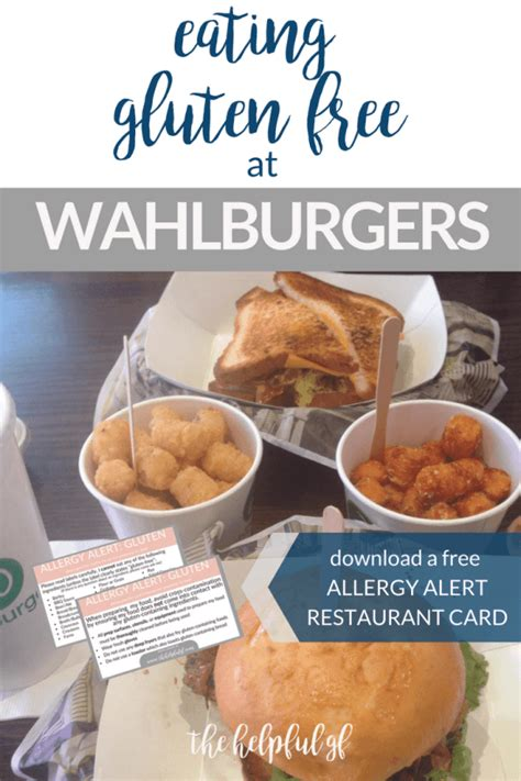 gluten wahlburgers restaurant