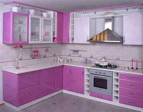 purple  pink kitchen colors adding retro vibe  modern