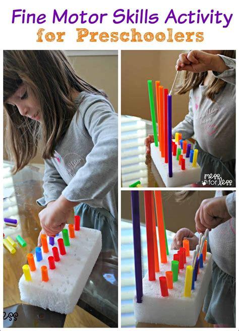 fine motor skills activity  beads mess