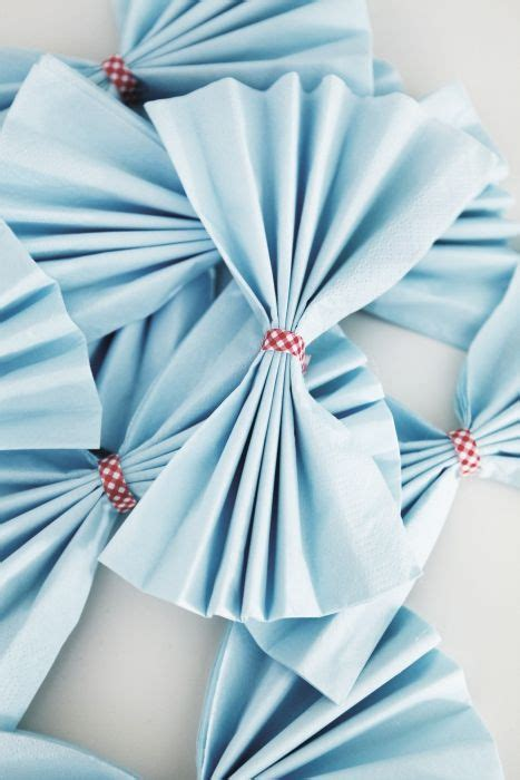 paper napkins add  decorative touch   tables