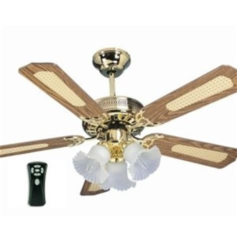 global santa polished brass 42 ceiling fan with 3